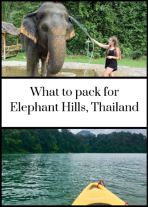 Tips and advice on what to pack for a trip to Elephant Hills luxury tented camp in the rainforest of Khao Sok National Park, Thailand. Click through for full list and advice.