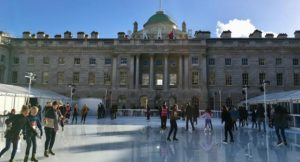 Ice skating at Somerset House, London. Copyright Gretta Schifano