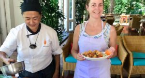 Thai cooking with Chef Joy, The Tongsai Bay. Copyright Sal Schifano