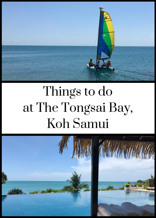 Review of activities and things to do at The Tongsai Bay luxury resort in Koh Samui Thailand. If you want to relax and sunbathe, that's fine, but if you'd like to try some activities at this resort there's a good choice of complimentary and charged for experiences, including waterspouts, Thai cooking, yoga. Thai language learning and more. Click through for full details of what's on offer.