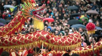 Chinese New Year, Trafalgar Square, London. Copyright Greater London Authority