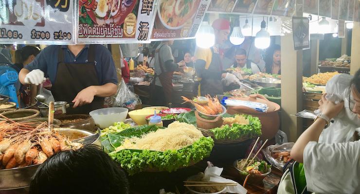Night market, Bangkok, Thailand. Copyright Gretta Schifano