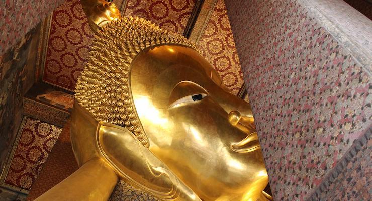 Reclining Buddha, Wat Pho, Bangkok. Thailand. Copyright Gretta Schifano