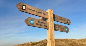 Sign at Winterton beach, Norfolk. Copyright Gretta Schifano