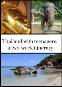 Thailand is a fantastic place for a family trip with teenagers or young children. We had an excellent family holiday exploring the country for a fortnight, starting in Bangkok, then travelling to Elephant Hills in Khao Sok National Park, then the island of Koh Samui and back to Bangkok. For full details of where we stayed, what we did and how we travelled over 14 days, click through to the detailed blog post.