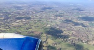 View of southern England from plane. Copyright Gretta Schifano