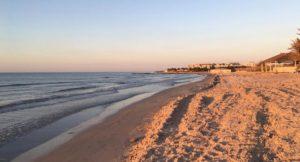 Beach at Royal Thalassa Hotel, Tunisia. Copyright Gretta Schifano