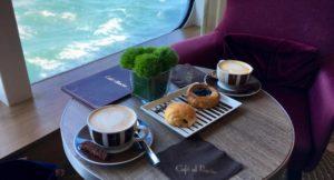 Coffee at Café al Bacio, Celebrity Edge. Copyright Gretta Schifano