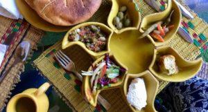 Lunch at Dar Zaghouan, Tunisia. Copyright Gretta Schifano