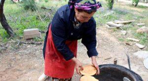 Traditional bread making at Dar Zaghouan, Tunisia. Copyright Gretta Schifano