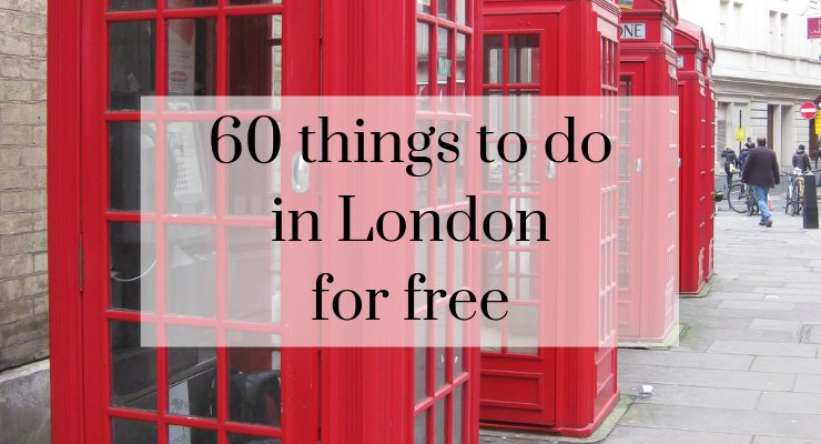 60 free things to do in London with a teenager