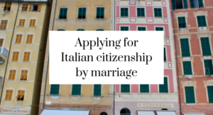 Applying for Italian citizenship by marriage, including taking the Italian language exam - click through for the full story of how I did this, with links to previous posts sharing how I applied for citizenship for our British-born children.