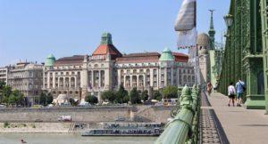 Danubius Gellért Hotel from Liberty Bridge, Budapest. Copyright Gretta Schifano