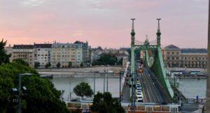 Dawn, Liberty Bridge, Budapest. Copyright Gretta Schifano