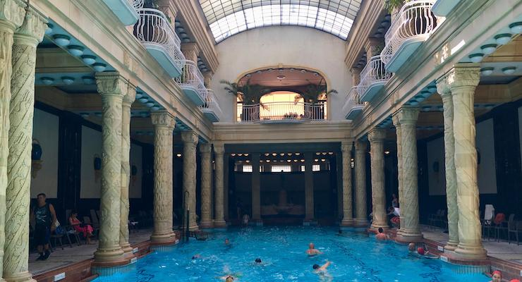 Indoor pool, Gellért Thermal Baths, Budapest. Copyright Gretta Schifano