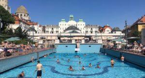 Outdoor pool, Gellért Thermal Baths, Budapest. Copyright Gretta Schifano