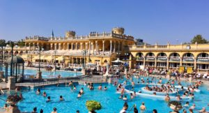 Széchenyi Thermal Baths, Budapest. Copyright Izzy Schifano