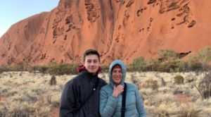 Max & Lorenza Bacino at Uluru at sunrise. Copyright Lorenza Bacino