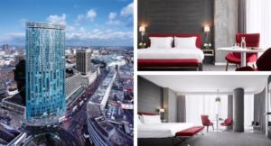 Radisson Blu Birmingham exterior and guest rooms. Copyright Radisson Hotels