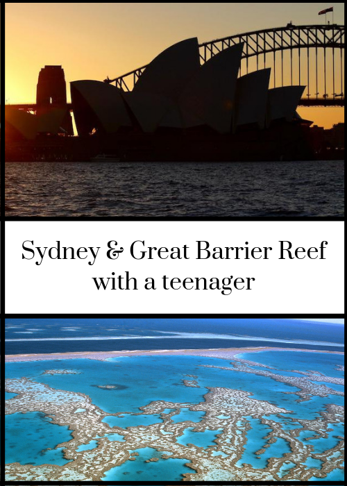 2-week itinerary for a trip to Australia exploring Sydney and the Great Barrier Reef with a teenager, including iconic sights, where to stay, and how to find the best tours. This is the first part of a month-long post-GCSE mother and son trip around Australia. Click through for full details.