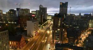 View from city view suite, Radisson Blu Birmingham. Copyright Gretta Schifano