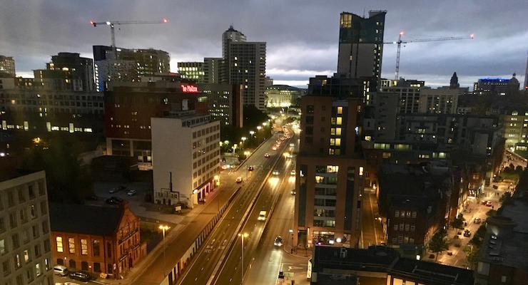 View from city view suite, Radisson Blu Birmingham. Copyright Gretta Schifano