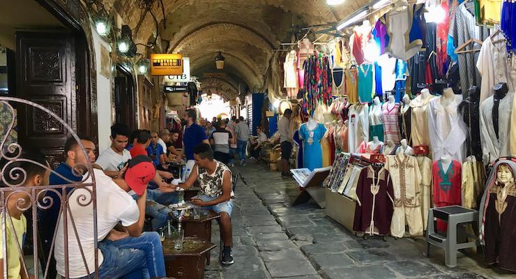 Cafe in the souks, Tunis medina, Tunisia. Copyright Gretta Schifano