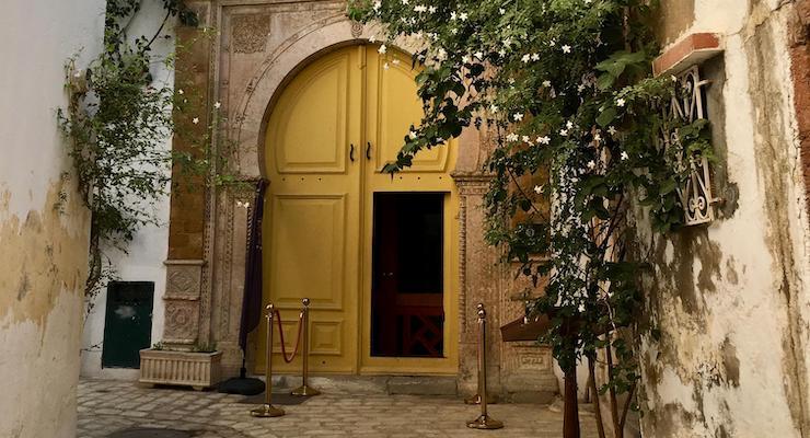 Doorway, Palais Bayram, Tunis medina, Tunisia. Copyright Gretta Schifano