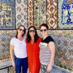 Gretta Schifano, Ting Dalton & Cathy Winston on a rooftop terrace in Tunis medina. Copyright Ting Dalton