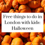 Halloween - free things to do in London with kids