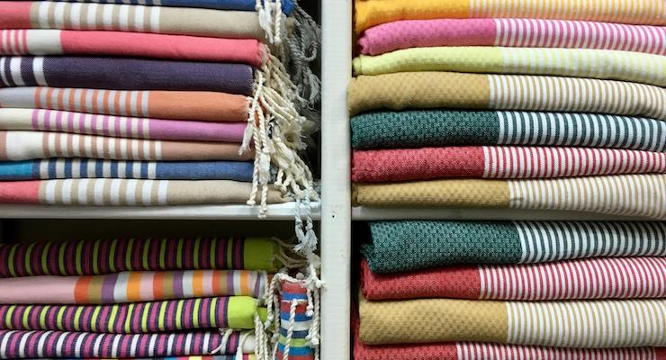 Hammam towels in the souks, Tunis medina, Tunisia. Copyright Gretta Schifano