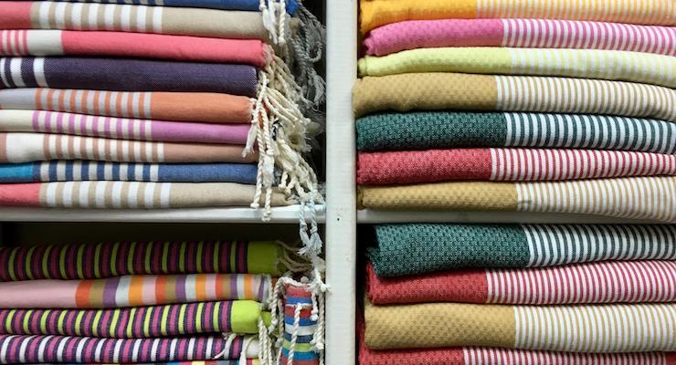 Hammam towels in the souks, Tunis medina, Tunisia. Copyright Gretta Schifano