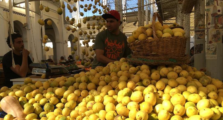 Lemons, Marché Centrale, Tunis, Tunisia. Copyright Gretta Schifano