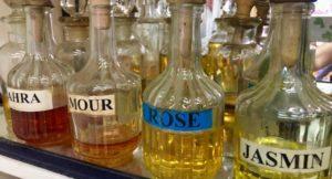 Perfume in the souks, Tunis medina, Tunisia. Copyright Gretta Schifano