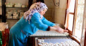 Traditional cake making at Dar Zaghouan, Tunisia. Copyright Gretta Schifano