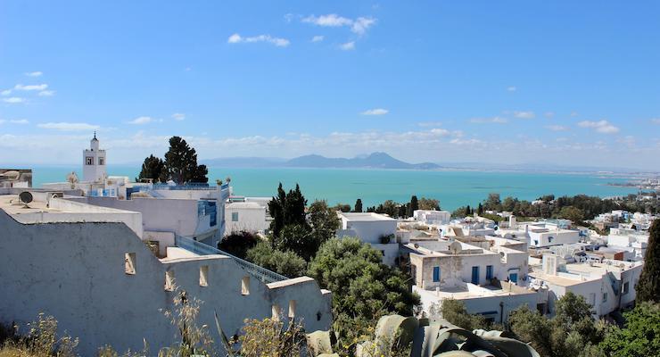 View across Sidi Bou Saïd, Tunisia. Copyright Gretta Schifano