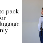 Hand luggage-only packing tips