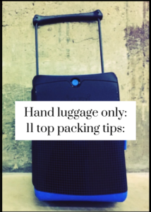 Practical tips and advice on packing for a trip with hand luggage only. Includes recommendations for cabin bags. Click through for full tips and details.