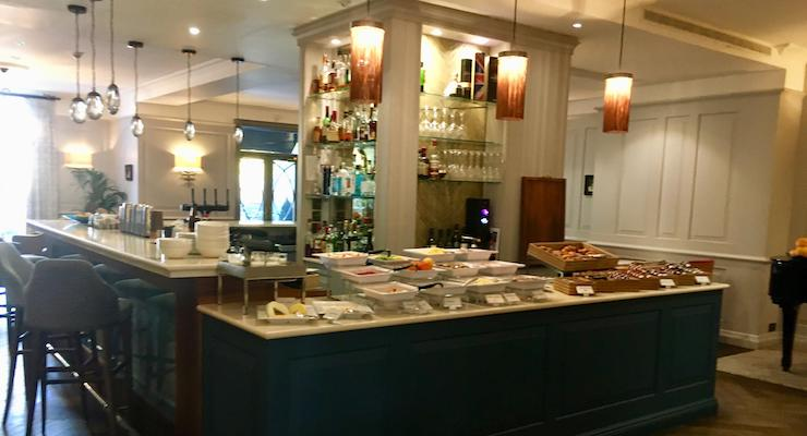 Breakfast buffet, The Gonville Hotel, Cambridge. Copyright Gretta Schifano
