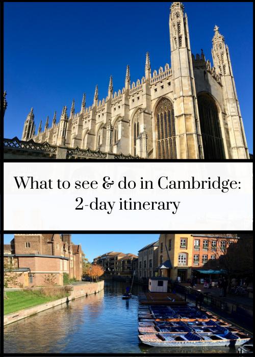 48-hour Cambridge itinerary