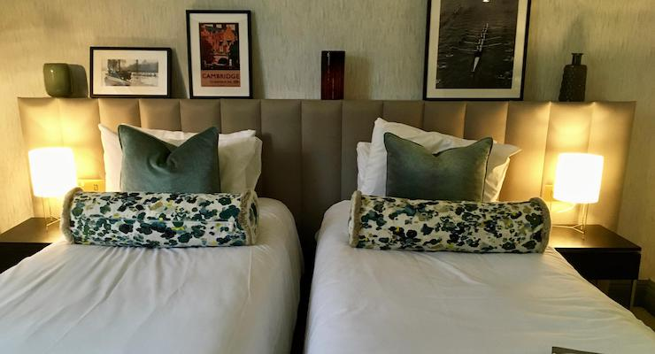 Classic Twin room, The Gonville Hotel, Cambridge. Copyright Gretta Schifano