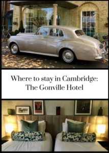 Review of 4-star luxury boutique hotel in Cambridge, England. the Gonville Hotel is in the centre of this historic city, close to the main sites and ancient university colleges. Click through for a full review and how to book.
