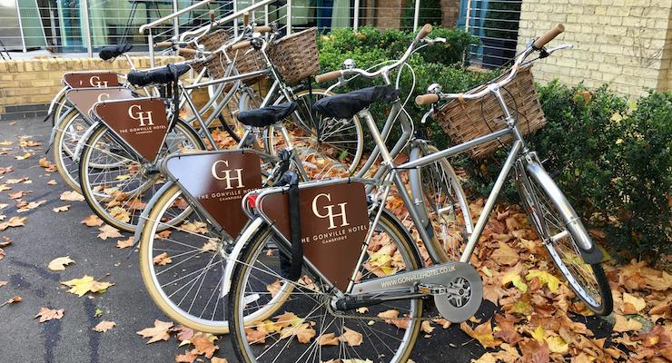 Town bikes, The Gonville Hotel, Cambridge. Copyright Gretta Schifano