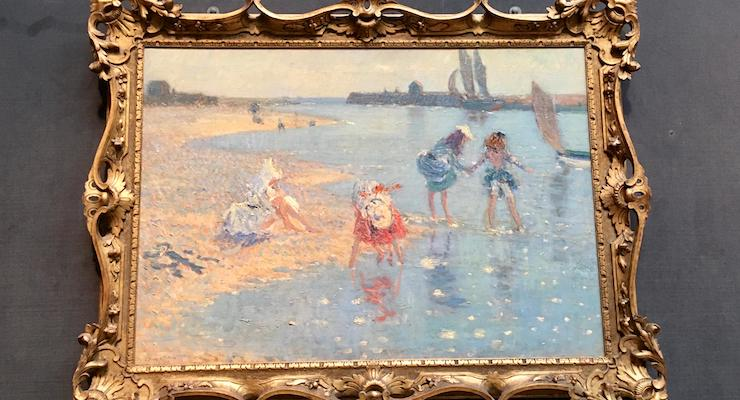Walberswick, Children paddling by Philip Wilson Steer, The Fitzwilliam Museum, Cambridge. Image by Gretta Schifano