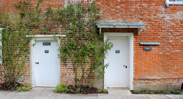 Doors at Jane Austen's House, Chawton, Hampshire. Copyright Gretta Schifano