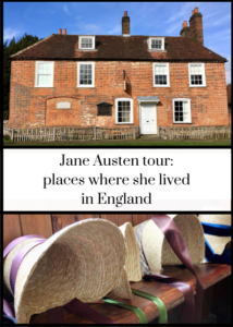 How to visit the places where beloved author Jane Austen lived in England and where she wrote her famous novels, Pride & Prejudice, Persuasion, Sense & Sensibility, Emma, Mansfield Park and Northanger Abbey. Click through for full details of how to find the places where Jane lived, including Bath, Southampton and Chawton.