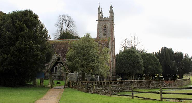 St. Nicholas Church, Chawton, Hampshire. Copyright Gretta Schifano