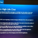BA High Life Chat screen. Copyright Gretta Schifano.