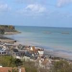 Arromanches & Mulberry harbour, Normandy. Copyright Gretta Schifano