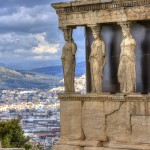 Caryatids – Erectheion temple on Acropolis hill. Shutterstock image courtesy of DiscoverGreece.com